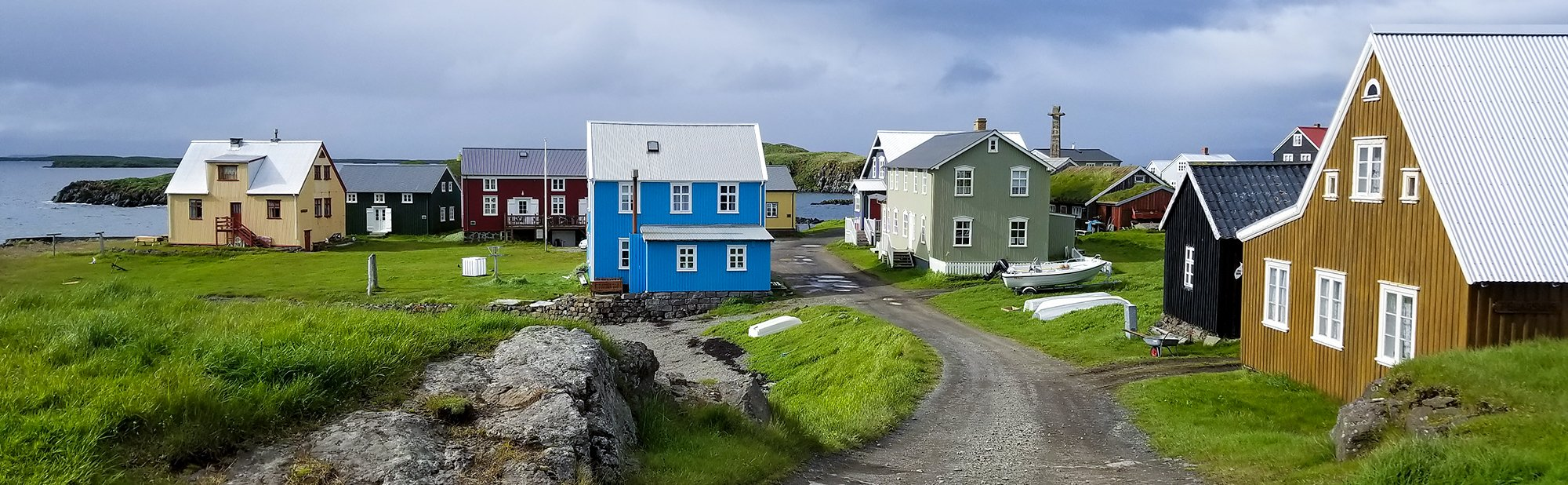 The small community on Flatey Island
