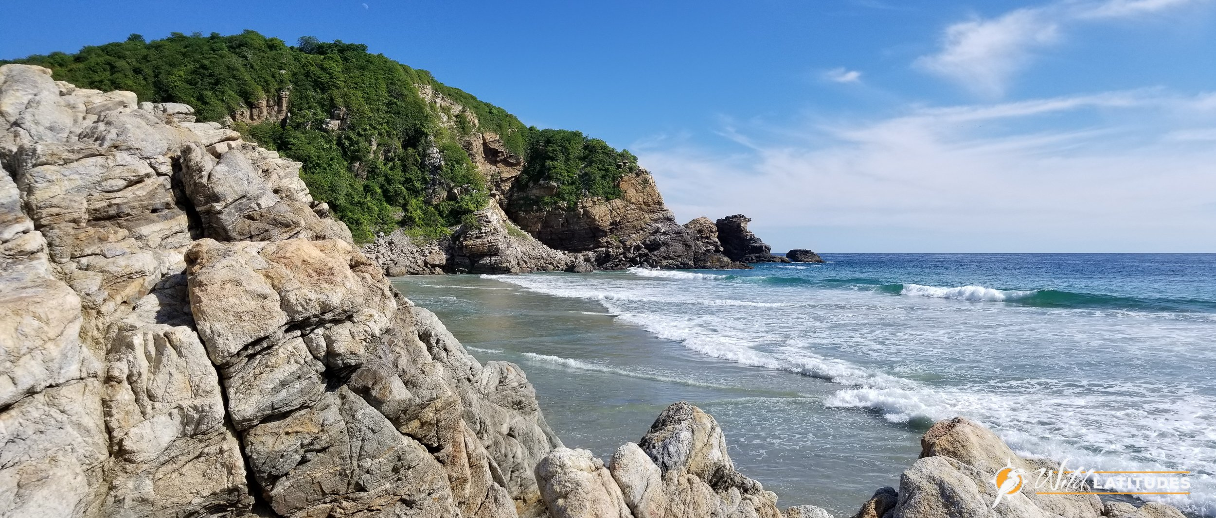 Beautiful coastline in Oaxaca, Mexico